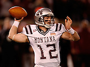 CHATTANOOGA, TN - DECEMBER 18:  Quarterback Andrew Selle #12 of the Montana Grizzlies throws a pass during the game against the Villanova Wildcats at Finley Stadium on December 18, 2009 in Chattanooga, Tennessee.  The Wildcats beat the Grizzlies 23-21.  (Photo by Mike Zarrilli/Getty Images)
