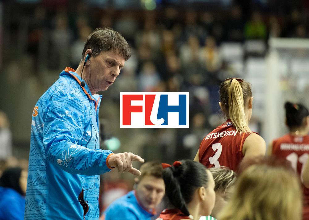 BERLIN - Indoor Hockey World Cup<br /> Bronze: Ukraine - Belarus<br /> foto: Herman Kruis<br /> WORLDSPORTPICS COPYRIGHT FRANK UIJLENBROEK