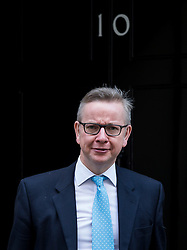 © Licensed to London News Pictures. 23/02/2016. London, UK. Secretary of State for Justice MICHAEL GOVE leaving number 10 Downing Street in Westminster, London after cabinet meeting. Photo credit: Ben Cawthra/LNP