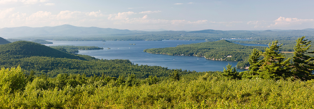 Lake Winnipesauke as seen from a hill in Alton, New Hampshire.