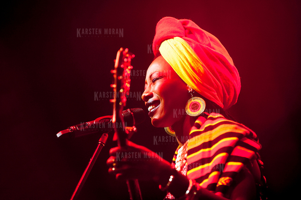 January 14, 2013 - New York, NY : The Malian musician Fatoumata Diawara performs during globalFEST in The Ballroom at Webster Hall on Sunday night. CREDIT: Karsten Moran for The New York Times