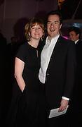 George and Frances Osborne. The Black and White Winter Ball. Old Billingsgate. London. 8 February 2006. -DO NOT ARCHIVE-© Copyright Photograph by Dafydd Jones 66 Stockwell Park Rd. London SW9 0DA Tel 020 7733 0108 www.dafjones.com