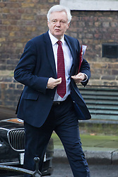 Downing Street, London, January 17th 2017. Secretary of State for Exiting the European Union David Davis arrives at the weekly cabinet meeting at 10 Downing Street.
