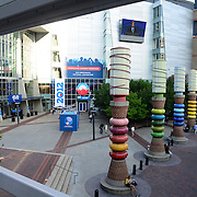 Entrance to the Time Warner Cable Arena, primary speech site for the 2012 Democratic National Convention in Charlotte, North Carolina