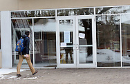 URSINUS12P<br /> A student approaches the entrance to Wismer Hall Thursday February 11, 2016 at Ursinus College  in Collegeville, Pennsylvania. 185 students became sick at the school since Tuesday night. The Montgomery County Health Department and the school are investigating the cause. (William Thomas Cain/For The Inquirer)