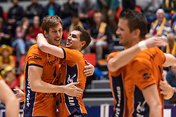 14-04-2019 NED: Achterhoek Orion - Draisma Dynamo, Doetinchem<br /> Orion win the fourth set and play the final round against Lycurgus. Dynamo won 2-3 / Joris Marcelis #4 of Orion, Pim Kamps #7 of Orion