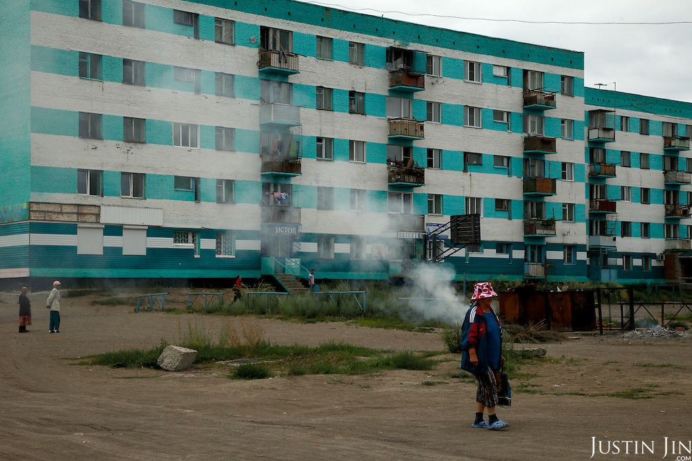 High unemployment and poverty aily life in the town of Shagana, Tuva Republic, southern Siberia, Russia