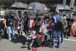 April 21, 2018 - Le Mans, SARTHE (72, FRANCE - 56 GERT56 BY RS SPEEDBIKES (GER) BMW S1000RR SUPERSTOCK SAIGER HORST (LIE) PUFFE JULIAN (GER) LOWE RICO (GER) HOFER CHRISTOF  (Credit Image: © Panoramic via ZUMA Press)