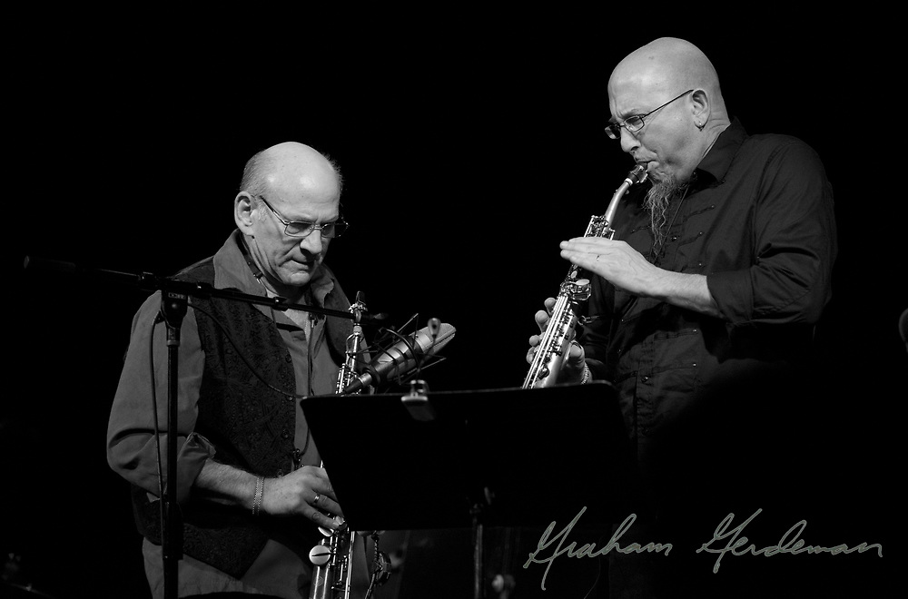 "Legendary saxophonist David Liebman trades solos with the great Jeff Coffin during their tribute performance to Miles Davis's ""On the Corner"" sessions in Nashville, TN."