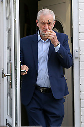 © Licensed to London News Pictures. 07/05/2019. London, UK. Jeremy Corbyn, the Labour Party leader leaves his north London home this morning. Photo credit: Dinendra Haria/LNP