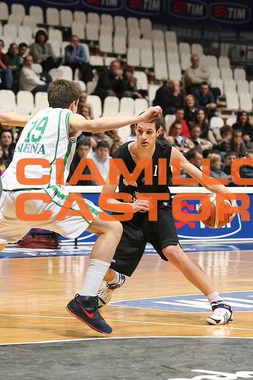 DESCRIZIONE : Bologna Basket For Life 2008 Torneo U17 Finale Montepaschi Siena Virtus Medusa Bologna <br /> GIOCATORE : Andrea Binelli<br /> SQUADRA : Virtus Medusa Bologna <br /> EVENTO : Basket For Life 2008 <br /> GARA : Montepaschi Siena Virtus Medusa Bologna <br /> DATA : 10/02/2008 <br /> CATEGORIA : Palleggio  <br /> SPORT : Pallacanestro <br /> AUTORE : Agenzia Ciamillo-Castoria/M.Marchi <br /> Galleria : Final Eight 2008 <br /> Fotonotizia : Bologna Basket For Life 2008 Torneo U17 Finale Montepaschi Siena Virtus Medusa Bologna <br /> Predefinita :