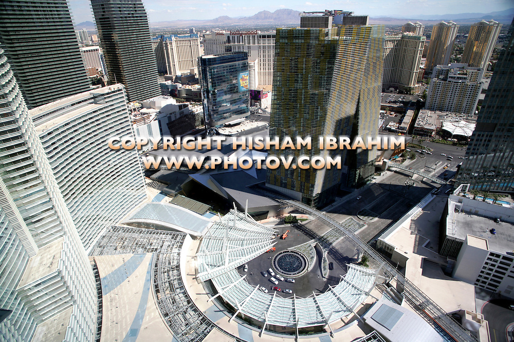 Aerial View of City Center and Las Vegas Strip, Las Vegas, Nevada