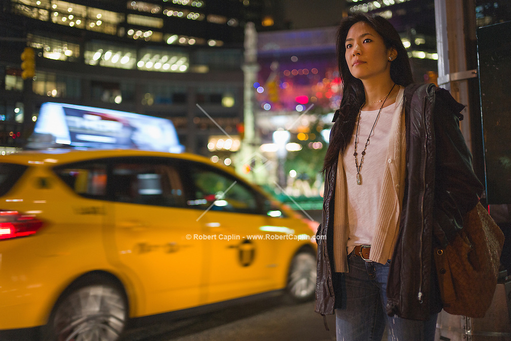 Photographer Nicole Tung in New York at Columbus Circle in Manhattan. <br />