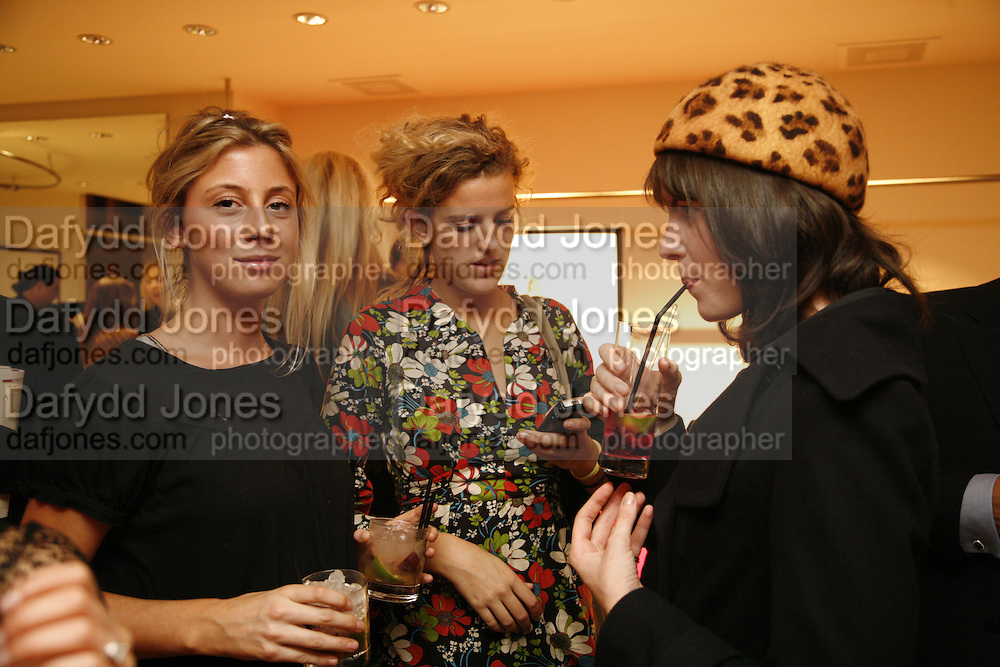 SOPHIA AKROYD, EMILY BIRD AND LAURA CATHCART, Maria Grachvogel 5th Anniversary of her  Sloane St store. 162 Sloane St. London. 19 October 2006. -DO NOT ARCHIVE-© Copyright Photograph by Dafydd Jones 66 Stockwell Park Rd. London SW9 0DA Tel 020 7733 0108 www.dafjones.com