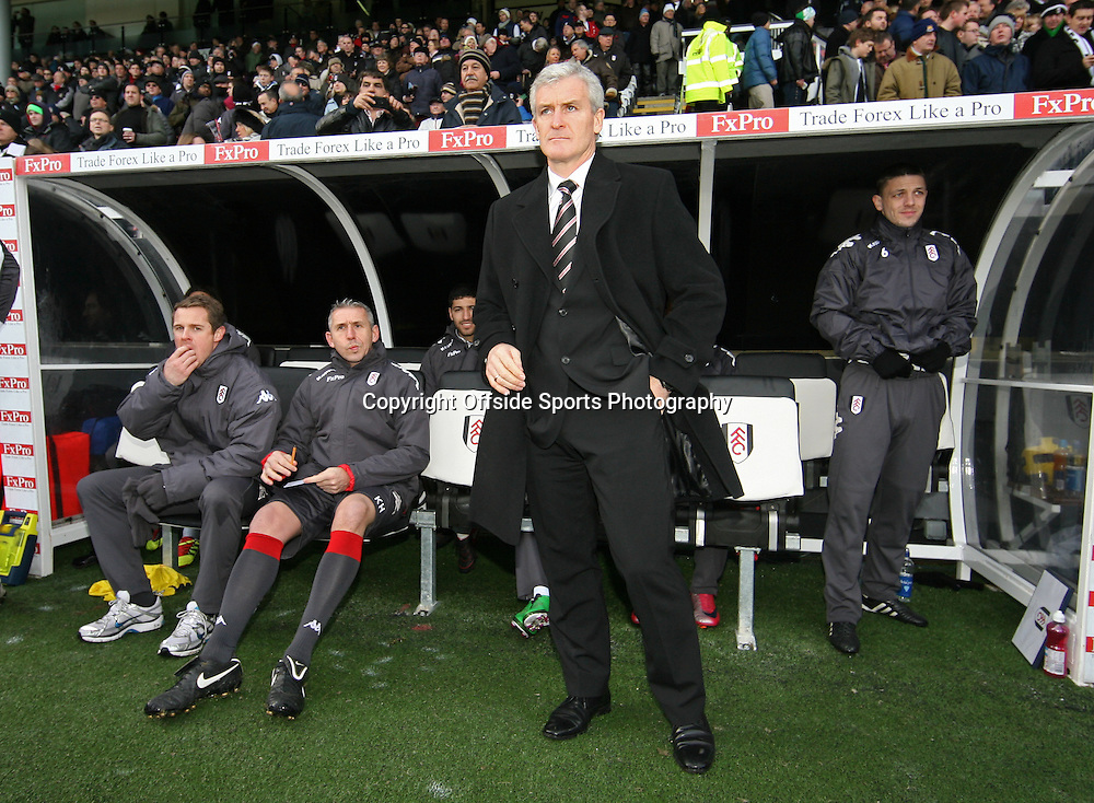 26/12/2010 - Barclays Premier League - Fulham vs. West Ham United - Fulham manager Mark Hughes- Photo: Simon Stacpoole / Offside.