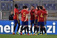 Esultanza gol Borja Majoral Spagna Goal celebration <br /> Roma 27-02-2017, Stadio Olimpico<br /> Football Friendly Match  <br /> Italy - Spain Under 21 Foto Andrea Staccioli Insidefoto