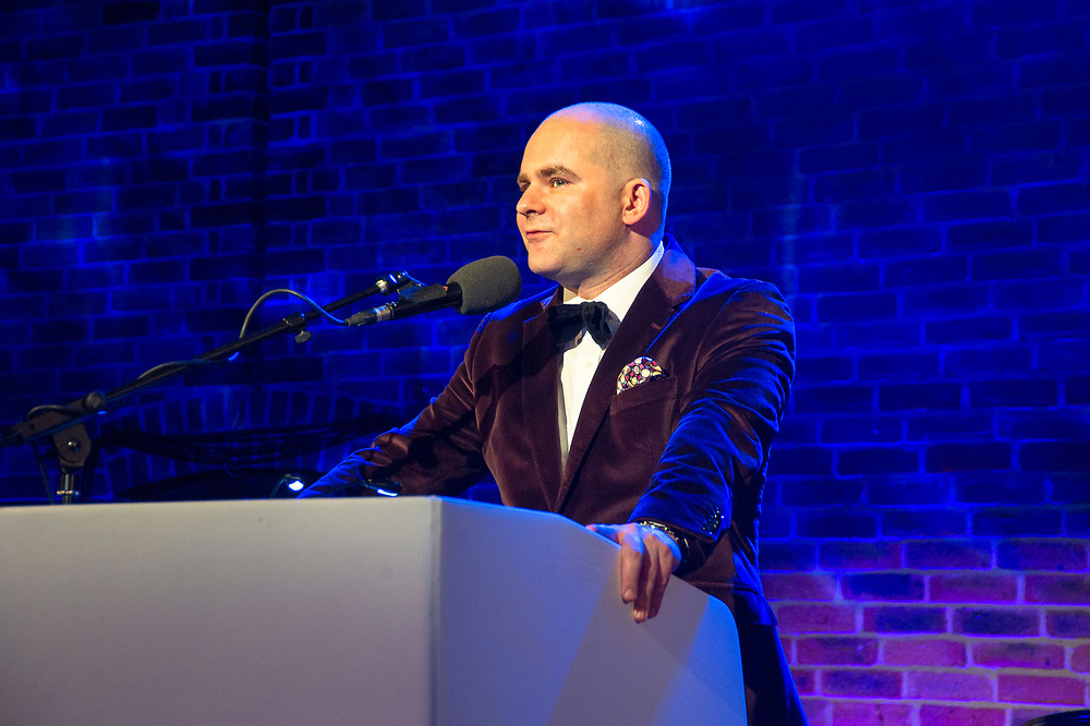 John Gilhooly, Chairman of the Royal Philharmonic Society, addresses<br /> the Royal Philharmonic Society Music Awards, London, Wednesday 9 May<br /> Photo credit required:  Simon Jay Price<br /> www.rpsmusicawards.com  #RPSMusicAwards
