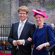 NLD/Den Haag/20130917 -  Prinsjesdag 2013,Staatssecretaris van Onderwijs, Cultuur en Wetenschap Sander Dekker en partner …..
