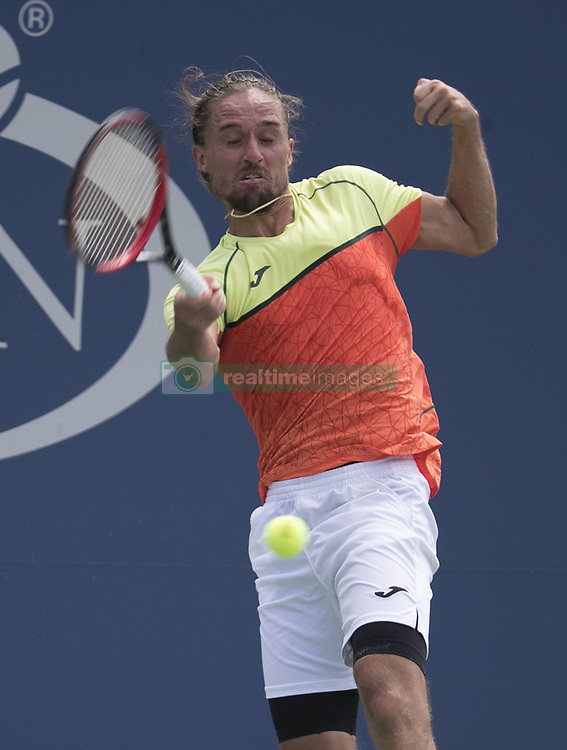 August 31, 2017 - Flushing Meadows, New York, U.S - Alexander Dolgopolov during his match on Day Four of the 2017 US Open with Tomas Berdych at the USTA Billie Jean King National Tennis Center on Thursday August 31, 2017 in the Flushing neighborhood of the Queens borough of New York City. Dolgopolov defeats Berdych, 3-6, 6-1, 7-6(7-5, 6-2. (Credit Image: © Prensa Internacional via ZUMA Wire)
