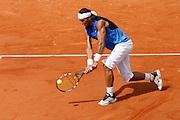 Roland Garros. Paris, France. June 11th 2006..Men's final. Rafael Nadal against Roger Federer.