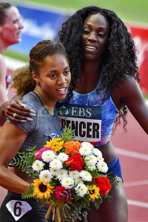 July 21, 2017 - France - Kori Carter (USA) - 400m haies femmes - Ashley Spencer (USA) -  400m haies femmes (Credit Image: © Panoramic via ZUMA Press)
