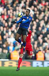 LIVERPOOL, ENGLAND - Saturday, January 28, 2012: Manchester United's Danny Welbeck in action against Liverpool during the FA Cup 4th Round match at Anfield. (Pic by David Rawcliffe/Propaganda)