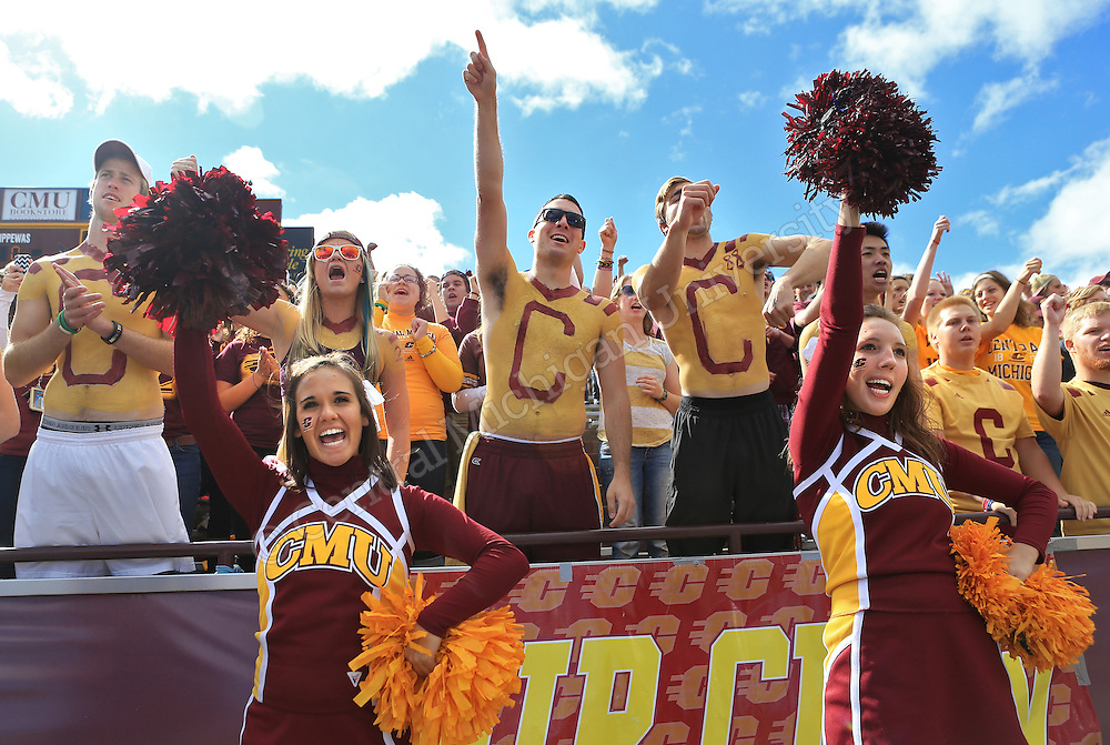 Fans, crowd and tailgating as the CMU Chippewas suffered a 38-17 loss to the Toledo Rockets in the Mid-American Conference opener at Kelly/Shorts Stadium. on Saturday September 21, 2013.