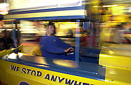 An unidentified driver controls a Tram car on the Boardwalk, Wednesday, August 7, 2002, in Wildwood, New Jersey. (Photo by William Thomas Cain/photodx.com)