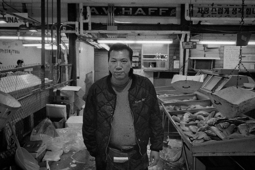 Many proprietors could be found in the market. Much like a semi enclosed flea market.The Fulton Street Fish Market operated in this location near the Brooklyn Bridge for 183 years until it was relocated to the Bronx in 2005.