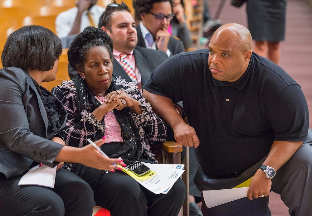 Community meeting regarding academic programs at Yates High School, October 23, 2014.