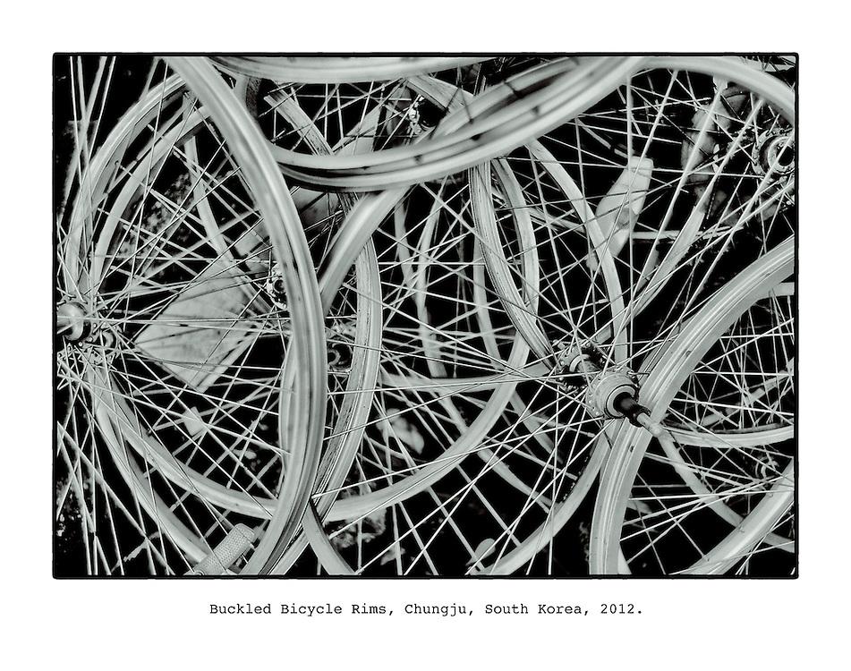 Buckled Bicylce Rims, Chungju, South Korea, 2012.