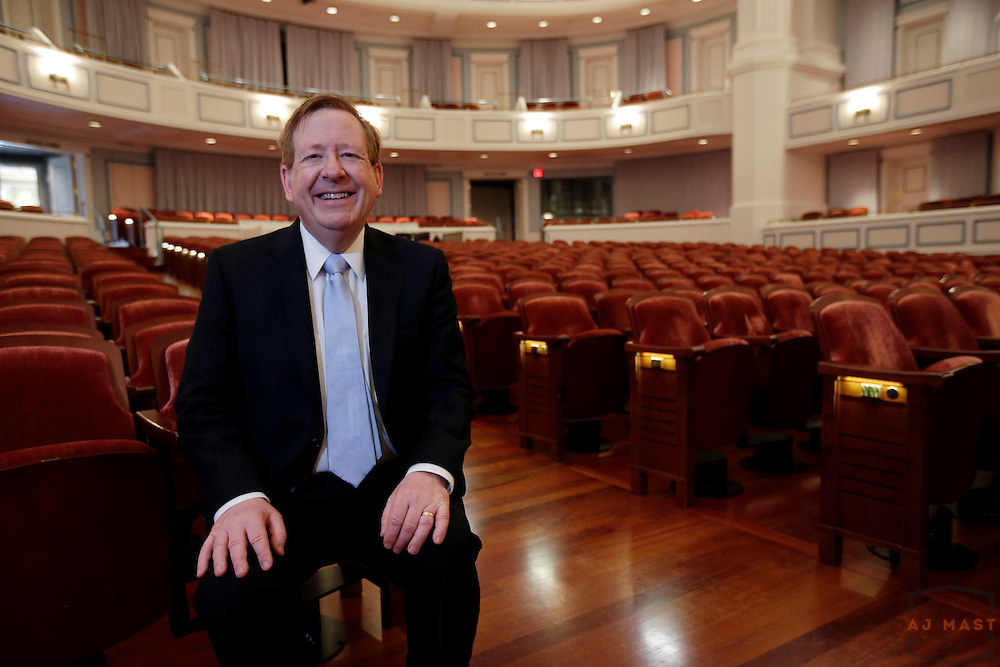 Carmel Mayor James Brainard poses for a portrait at the Paladium, part of the Center for the Performing Arts in  Carmel, Ind., Monday, June 30, 2014. (Photo by AJ Mast )