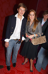 COUNT NIKOLI VON BISMARCK and PRINCESS BEATRICE OF YORK at a party hosted by jeweller Theo Fennell and Dominique Heriard Dubreuil of Remy Martin fine Champagne Cognac entitles 'Hot Ice' held at 35 Belgrave Square, London, W1 on 26th October 2004.<br />
