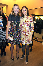 Left to right, DAISY PRINCE and FRANCESCA WYATT at a party to celebrate the publication of Shop Your Closet - the ultimate guide to organisingyour closet with style by Melanie Charlton-Fascitelli held at Asprey, New Bond Street, London on 16th September 2008.