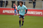 Sido Jombati of Wycombe Wanderers during the Sky Bet League 2 match between Wycombe Wanderers and Bristol Rovers at Adams Park, High Wycombe, England on 27 February 2016. Photo by Dennis Goodwin.