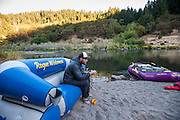 Camping and river life on the Rogue River, Oregon.