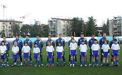 Team of Slovenia before Friendly match between U-21 National teams of Slovenia and Romania, on February 11, 2009, in Nova Gorica, Slovenia. (Photo by Vid Ponikvar / Sportida)