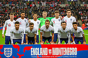 England line up during the UEFA European 2020 Qualifier match between England and Montenegro at Wembley Stadium, London, England on 14 November 2019.