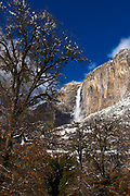 Yosemite Falls after a winter storm, Yosemite National Park, California USA