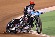 Tai Woffinden during the 2019 Adrian Flux British FIM Speedway Grand Prix at the Principality Stadium, Cardiff, Wales on 21 September 2019.