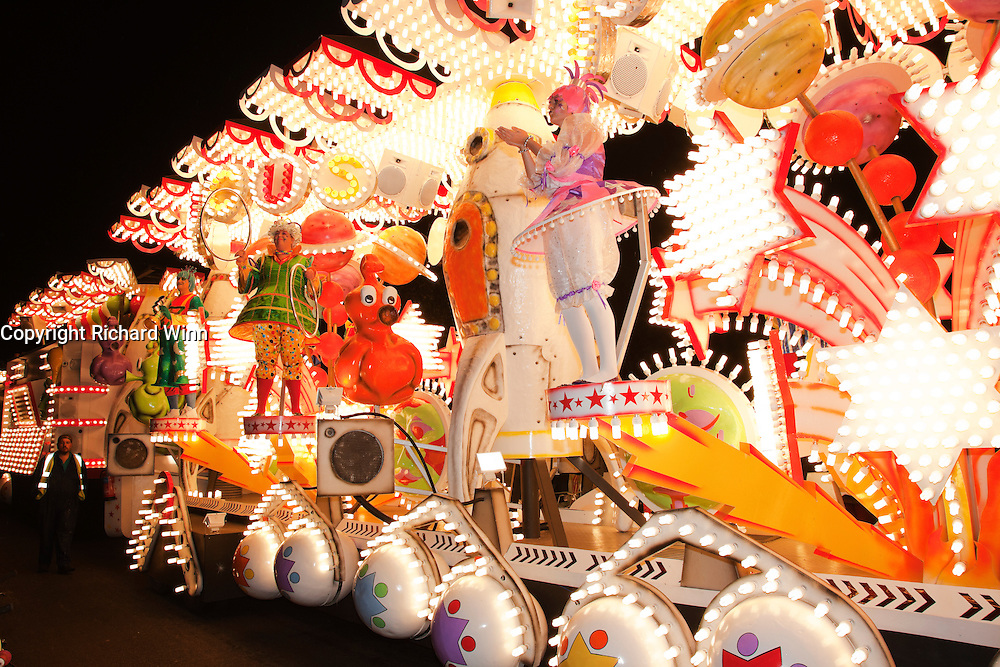 Side view of Galactic Circus by Wills CC at Glastonbury and Chilkwell Guy Fawkes Carnival, 2010.