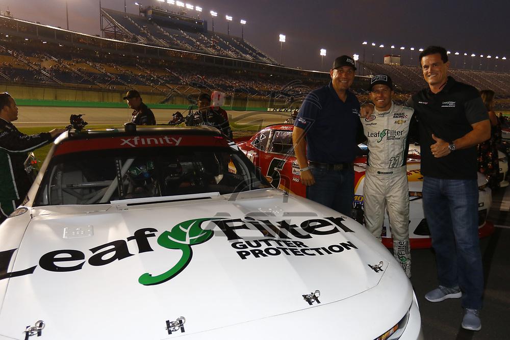 September 23, 2017 - Sparta, Kentucky, USA: Blake Koch (11) meets with guest before the VisitMyrtleBeach.com 300 at Kentucky Speedway in Sparta, Kentucky.