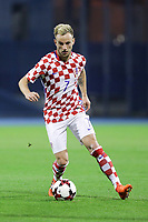 ZAGREB, CROATIA - NOVEMBER 09: Ivan Rakitic of Croatia controls the ball during the FIFA 2018 World Cup Qualifier play-off first leg match between Croatia and Greece at Maksimir Stadium on November 9, 2017 in Zagreb, Croatia. (Luka Stanzl/PIXSELL)