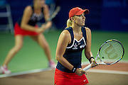 IRVING, TX - JULY 10:  Anastasia Rodionova of the Washington Kastles awaits the serve during a women's doubles match against the Texas Wild on July 10, 2013 at the Four Seasons Resort and Club in Irving, Texas.  (Photo by Cooper Neill/Getty Images) *** Local Caption *** Anastasia Rodionova