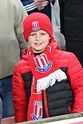 Stoke fan during the Premier League match between Stoke City and Manchester City at the Bet365 Stadium, Stoke-on-Trent, England on 12 March 2018. Picture by Graham Holt.