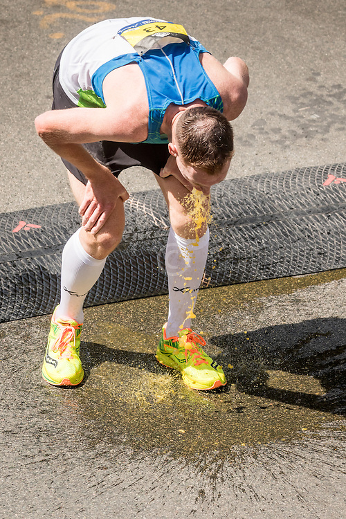 Boston Marathon Zachary Hine finishes 10th, top American, then vomits
