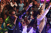 Fabolous and Trey Songz perform during BET's '106 & Park' 10 year anniversary celebration at BET Studios on October 6, 2010 in New York City.
