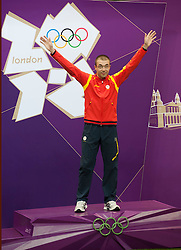 Men's  10m Air Rifle Final .Alin Moldoveanu - ROM  Gold Medal at London 2012 Olympics, Monday, 30th July 2012.  Photo by: i-Images