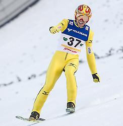 11.01.2014, Kulm, Bad Mitterndorf, AUT, FIS Ski Flug Weltcup, Bewerb, im Bild Noriaki Kasai (JPN) // Winner Noriaki Kasai (JPN) during the FIS Ski Flying World Cup at the Kulm, Bad Mitterndorf, Austria on <br /> 2014/01/11, EXPA Pictures © 2014, PhotoCredit: EXPA/ JFK