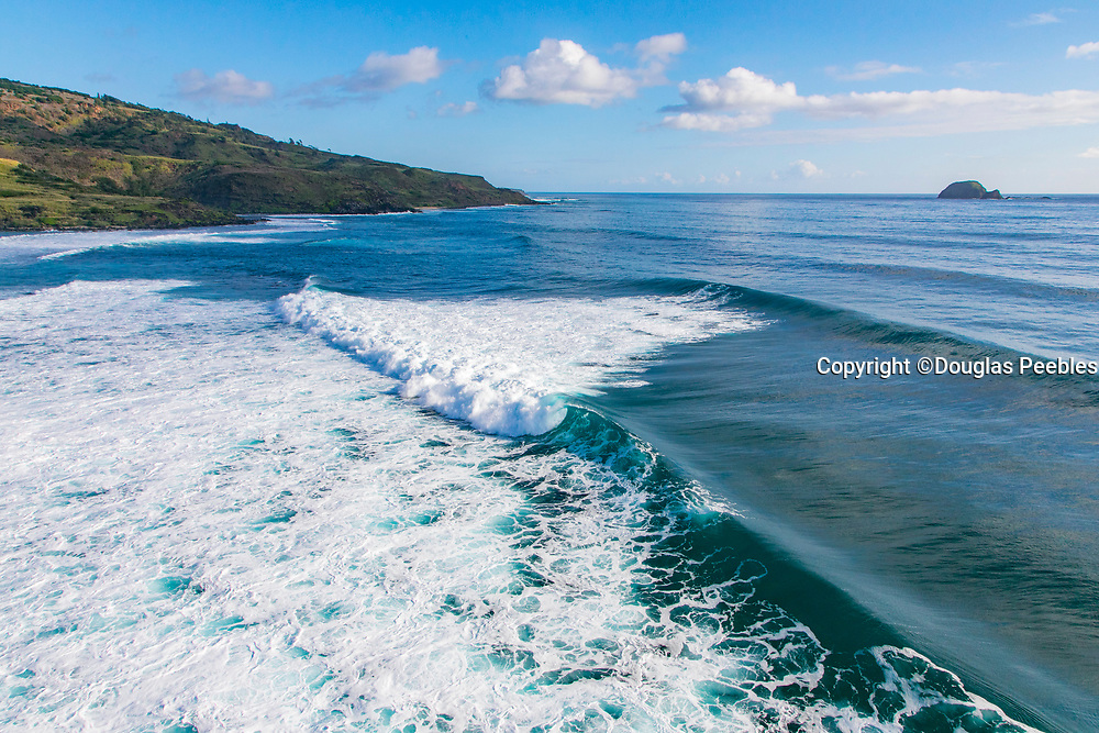 Surfing, Southeast Shoreline, Molokai, Hawaii